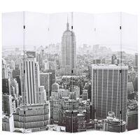 vidaXL Kambario pertvara, 228x170 cm, Niujorkas dieną, juoda ir balta