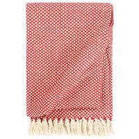 vidaXL Pledas, raudonos spalvos, 220x250cm, medvilnė