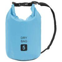 vidaXL Vandeniui atsparus krepšys, mėlynos spalvos, PVC, 5l