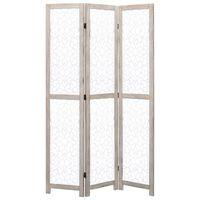 vidaXL Kambario pertvara, 3 dalių, baltos spalvos, 105x165 cm, mediena