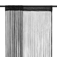 vidaXL Virvelinės užuolaidos, 2vnt., 140x250cm, juodos spalvos