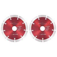 vidaXL Deimantiniai pjovimo diskai, 2vnt., plienas, 125mm