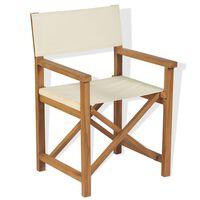 vidaXL Sulankstoma režisieriaus kėdė, tikmedžio mediena