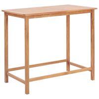 vidaXL Sodo baro stalas, 120x65x110cm, tikmedžio medienos masyvas