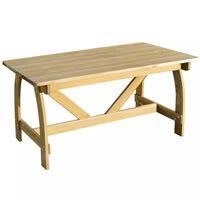 vidaXL Sodo stalas, 150x74x75cm, impregnuota pušies mediena