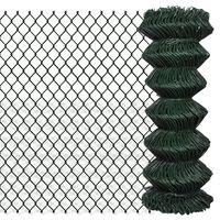 vidaXL Tinklinė tvora, žalia, 1x25m, plienas