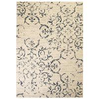 vidaXL Modernus kilimas, gėlių raštas, 160x230cm, smėlio sp./mėlynas