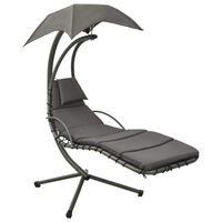 vidaXL Supama sodo kėdė, pilkos spalvos, 190x90x200cm, audinys