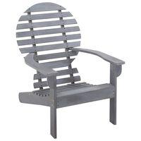 vidaXL Adirondack kėdė, pilkos spalvos, akacijos medienos masyvas