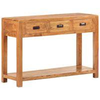 vidaXL Konsolinis staliukas, 110x40x76cm, akacijos medienos masyvas