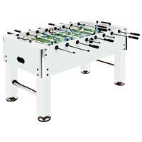 vidaXL Stalo futbolo stalas, baltas, 140x74,5x87,5cm, plienas, 60kg