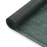 vidaXL Uždanga teniso kortams, žalia, 2x25m, HDPE