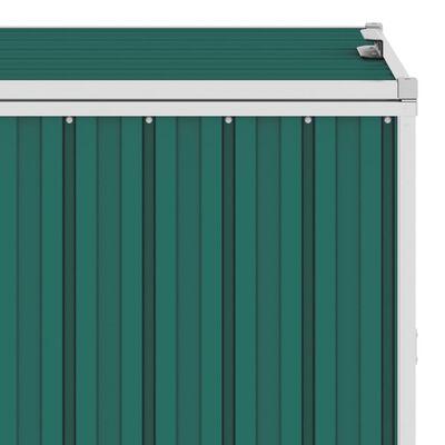 vidaXL Konteinerių stoginė, žalia, 286x81x121cm, keturvietė