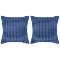 vidaXL Pagalvėlių rinkinys, 2vnt., veliūras, 60x60cm, mėlyna spalva
