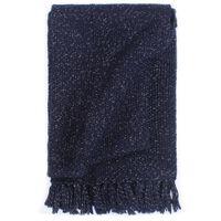 vidaXL Pledas, tamsiai mėlynos spalvos, 160x210cm, liureksas