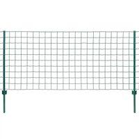 vidaXL Euro tvora, žalia, 20x0,8m, plienas