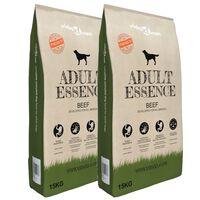 vidaXL Sausas maistas šunims, Adult Essence Beef, 2vnt., 30kg