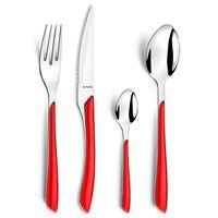 Amefa Stalo įrankių rinkinys Eclat, 24 vnt., raudonos spalvos