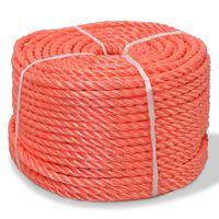 vidaXL Susukta virvė, oranžinė, 100m, polipropilenas, 14mm