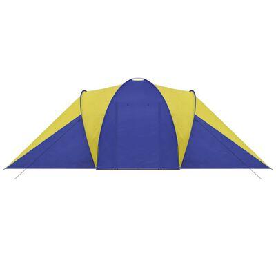 Neperšlampama Turistinė Palapinė 6 Asm., Mėlyna / Geltona, Yellow