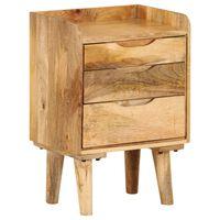 vidaXL Naktinis staliukas, mango medienos masyvas, 40x30x59,5cm
