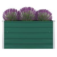 vidaXL Aukštas sodo lovelis, žalios spalvos, 100x100x45cm, plienas
