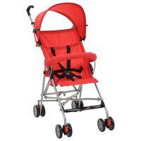 vidaXL Sulankstomas vaikiškas vežimėlis, raudonas, plienas