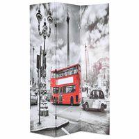 vidaXL Kambario pertvara, 120x170 cm, Londono autob., juoda ir balta