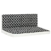 vidaXL Sodo pagalvėlių paletėms rinkinys, 2vnt., su raštais