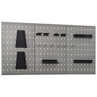 vidaXL Sieninės plokštės su kabliukais, 3vnt., 40x58cm, plienas