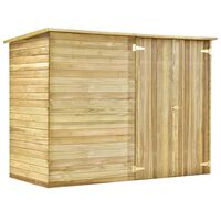 vidaXL Pašiūrė sodo įrankiams, 232x110x170cm, impregnuota pušies med.