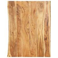 vidaXL Stalviršis, 80x(50-60)x2,5cm, akacijos medienos masyvas