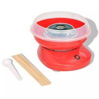 vidaXL Cukraus vatos gaminimo aparatas, 480 W, raudonas
