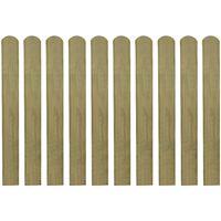 vidaXL Impregnuoti tvoros skersiniai, 30vnt, 80cm, mediena (3x42010)