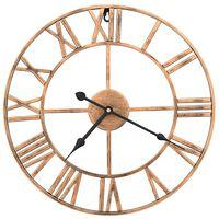 vidaXL Sieninis laikrodis, auksinės spalvos, 40 cm, metalas