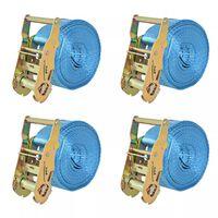 vidaXL Reketo tvirtinamieji dirželiai, 4vnt., 2t., 6mx38mm, mėlyni