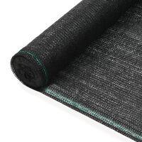 vidaXL Uždanga teniso kortams, juoda, 2x25m, HDPE