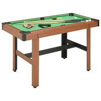 vidaXL Biliardo stalas, 122x61x76cm, rudos spalvos, 4 pėdų ilgio