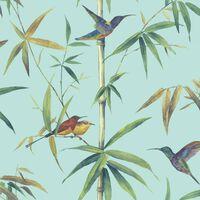 Noordwand Tapetai Kolibri and Bamboo, turkio spalvos