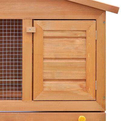 vidaXL Lauko narvelis triušiams, 3 durelės, mediena