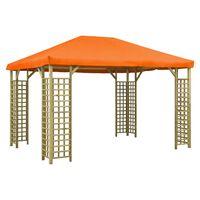 vidaXL Pavėsinė, oranžinės spalvos, 4x3m