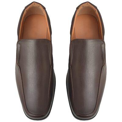 vidaXL Vyriški batai, rudi, dydis 42, PU oda