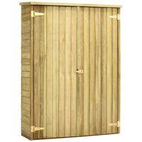 vidaXL Pašiūrė sodo įrankiams, 123x50x171cm, impregnuota pušies med.
