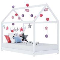 vidaXL Vaikiškos lovos rėmas, baltas, 90x200cm, pušies masyvas