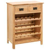 vidaXL Spintelė vynui, 72x32x90cm, ąžuolo medienos masyvas