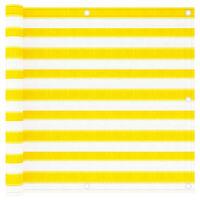 vidaXL Balkono pertvara, geltonos ir baltos spalvos, 90x300cm, HDPE