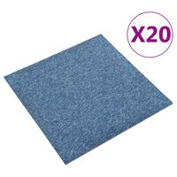vidaXL Kiliminės plytelės, 20vnt., mėlynos spalvos, 50x50cm, 5m²