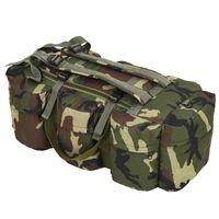 vidaXL Militaristinio stiliaus daiktų krepšys 3-1, 120l, kamufliaž.