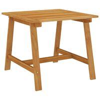 vidaXL Sodo valgomojo stalas, 88x88x74cm, akacijos medienos masyvas