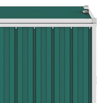 vidaXL Konteinerių stoginė, žalia, 143x81x121cm, plienas, dvivietė